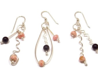 Asymmetrical Earrings, Mismatched Earrings, Sterling Silver Earrings, Silver Earrings, Wedding Jewelry, Bridesmaids Earrings, Mother's Day