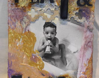 Play & Explore mixed media painting