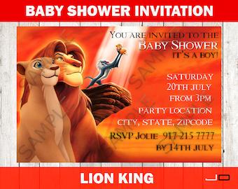 Lion king baby shower invitation etsy lion king baby shower invitation lion king invite lion king boy baby shower invite girl baby shower invite lion printable download filmwisefo
