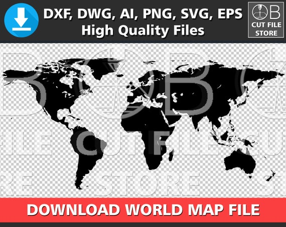 World map silhouette dxf dwg ai svg png eps files download world map silhouette dxf dwg ai svg png eps files download world map digital cut file cuttable world map vector clipart instant download gumiabroncs Gallery