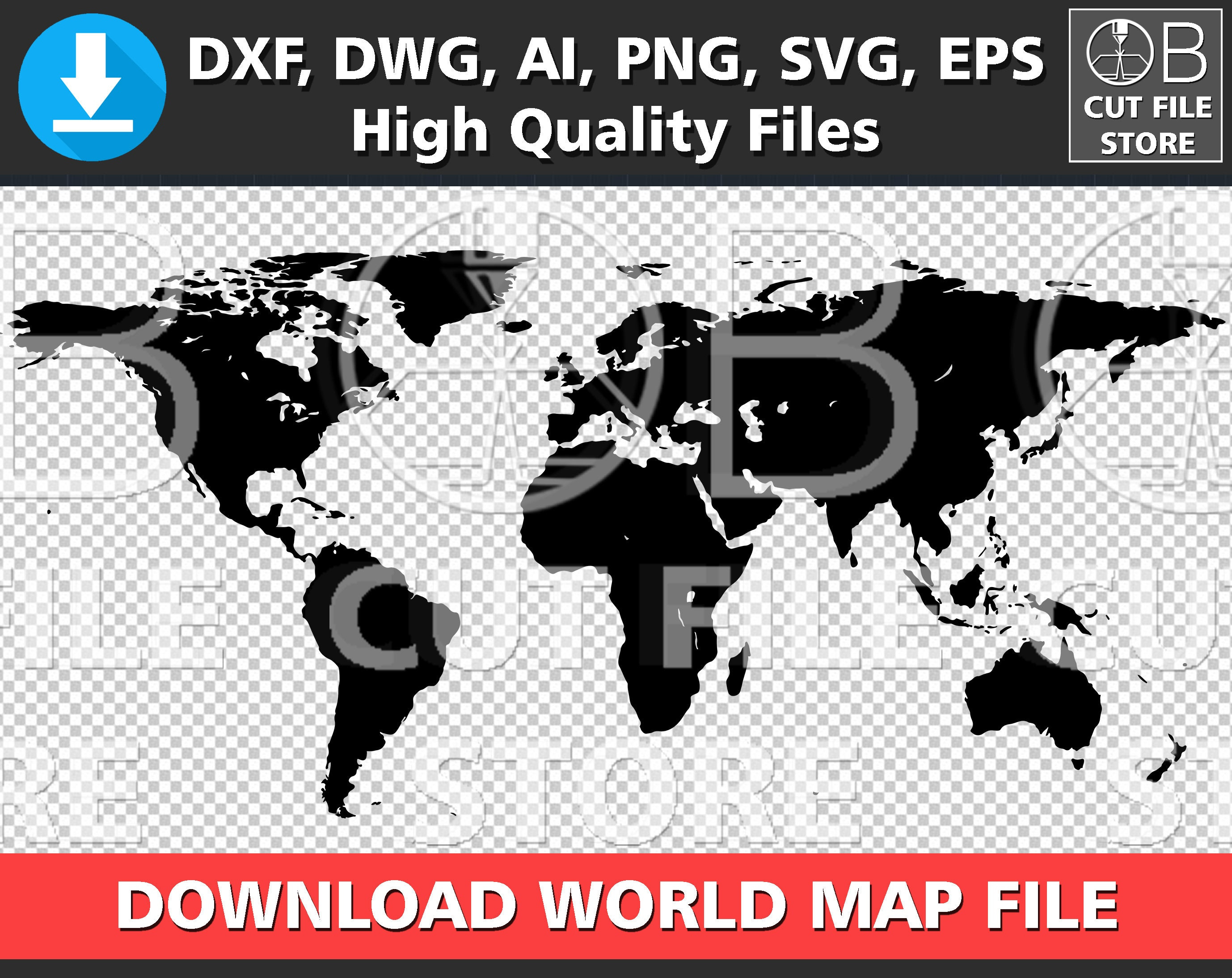 World map silhouette dxf dwg ai svg png eps files download zoom gumiabroncs Gallery