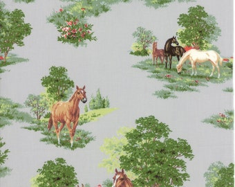 Paddock in Grey - Purebred II by Erin Michael - Moda cotton fabric - half yard or more