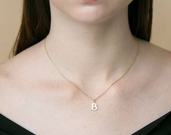 Custom Initial Necklace - Personalized Initial Necklace  - Minimal Initial Jewelry  - Gold Personalized Initial #PN01F161