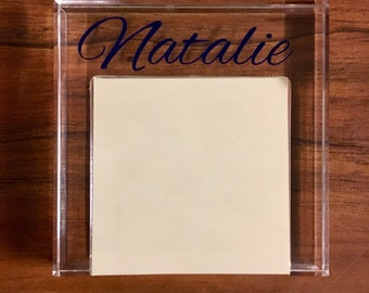 Personalized Acrylic Sticky Notepad/Post It Note Holder