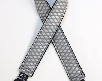 "Metallic Diamonds Camera Strap Custom Padded DSLR SLR 2"" wide or 1.5"" wide"