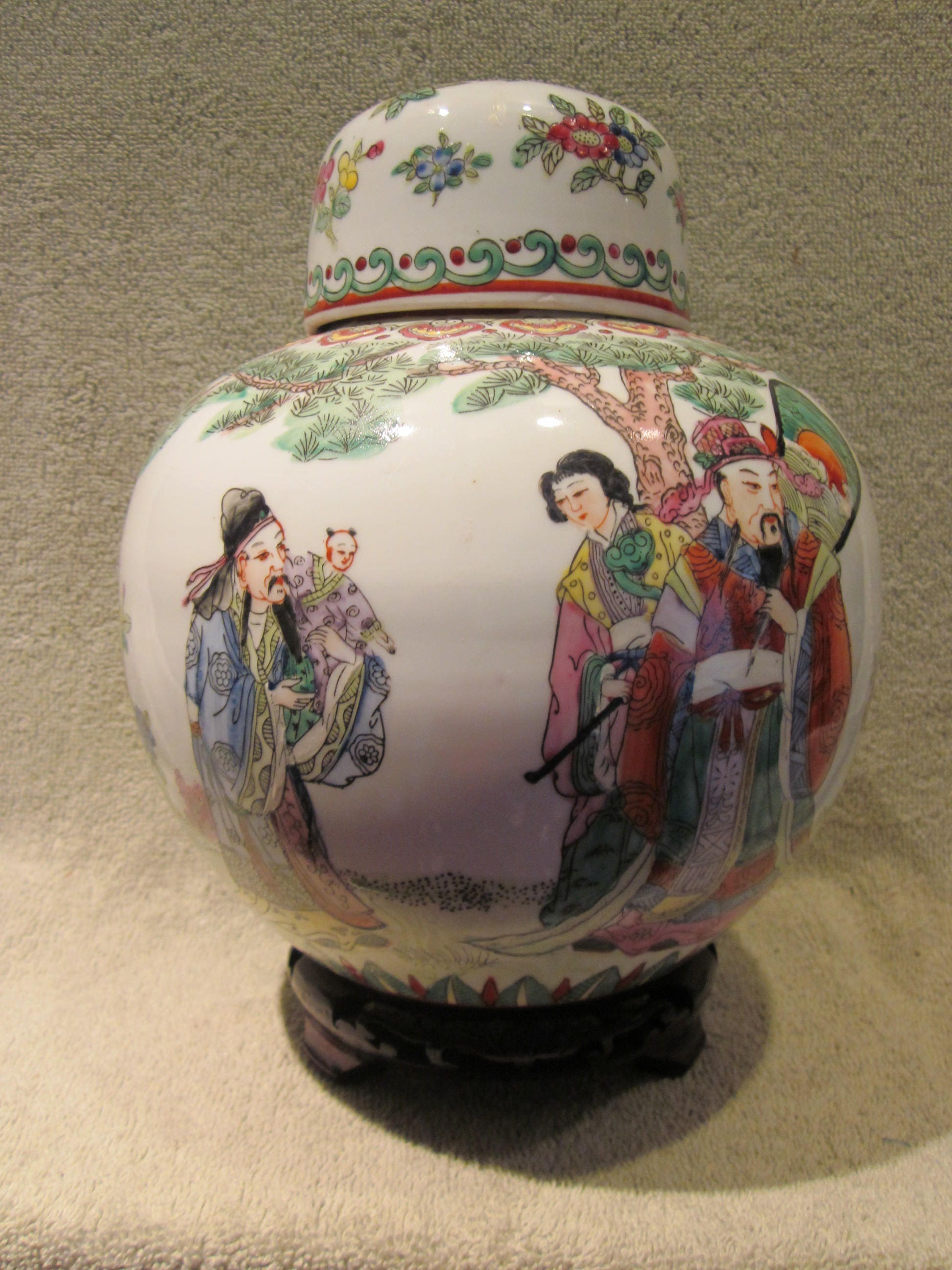 Plate in ancient chinese porcelain from macau old chinese da qing qianlong nian zhi 3 wizemen porcelain ginger jar 19th or 20th century red reviewsmspy