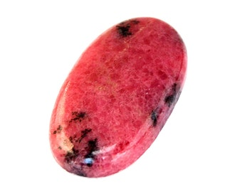 Rhodonite Cabochon Stone (37mm x 20mm x 6mm) 54cts - Oval Cabochon