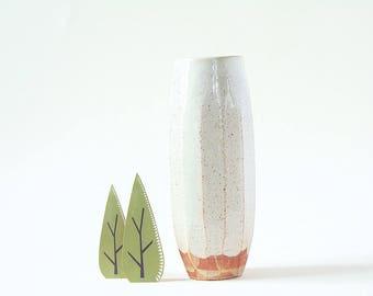 Flower Vase Faceted Ceramic Handmade