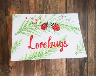 Love Bugs Valentines card