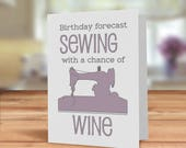 Sewing card, Birthday for...