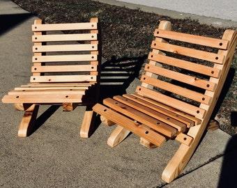 Custom Handmade Portable Cedar Child's Chair