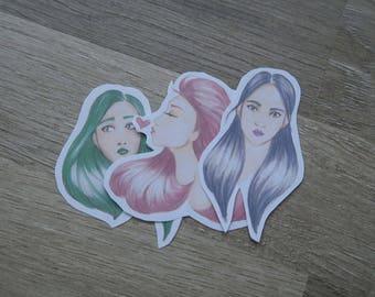 Pastel Girls - sticker pack
