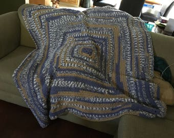 """Full size """"Scrapghan Bundle Style"""" Afghan for Adults available in your choice of colors"""