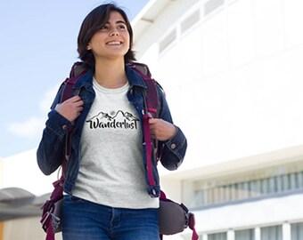 Wanderlust Shirt | Women's Shirt Wanderlust Gift | Adventure Shirt | World Travel Shirt | Mountain shirt | Road Trip Shirt | Traveler Shirt