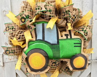 John Deere,farming,john deere wreath,tractors,farm life,harvest wreath,farming,farmhouse wreath,southern wreath