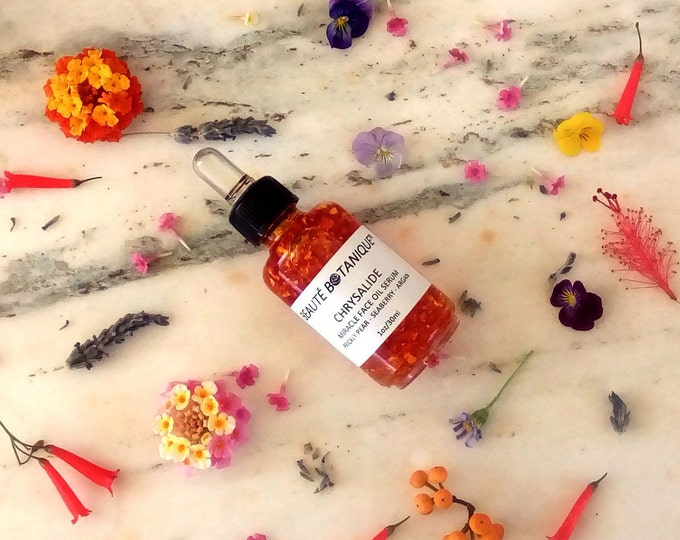 Featured listing image: CHRYSALIDE - Miracle Face Oil Serum - Pure Gold Infused Botanical Nectar