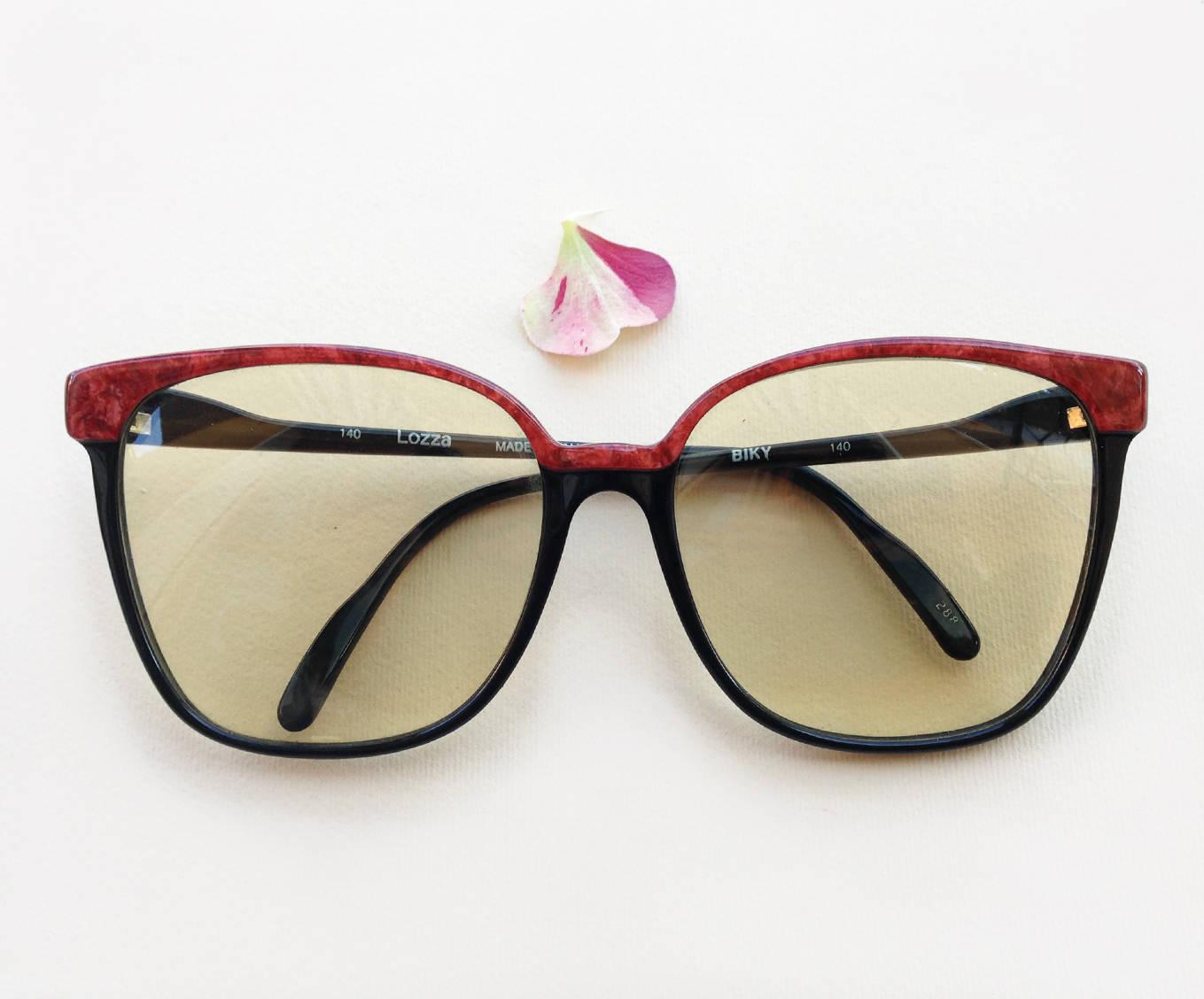LOZZA Sonnenbrille / 70er Jahre NOS übergroße Entwerfer Rahmen