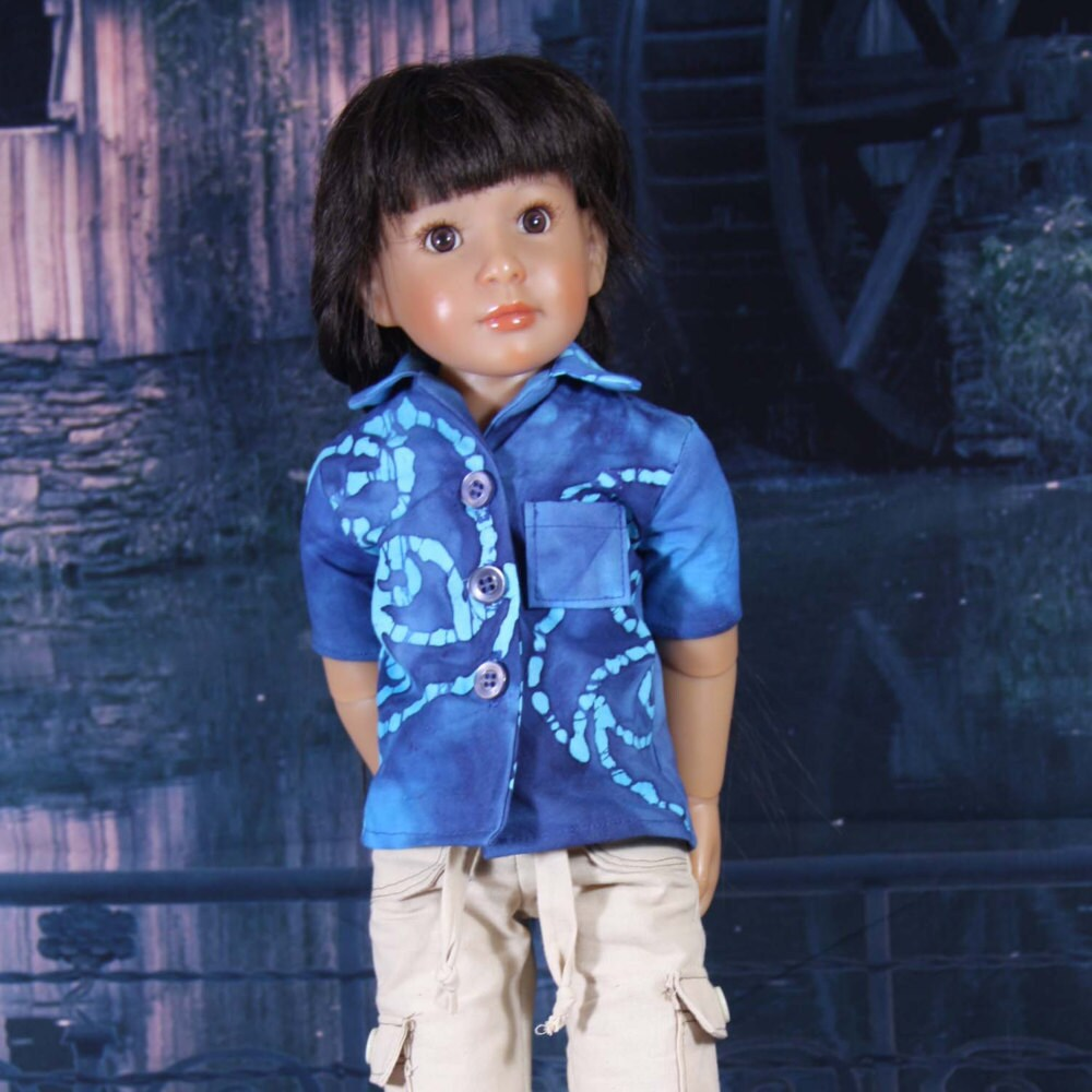 Cargo-Hosen und Hawaiian Shirt Muster für Kidz n Katzen und