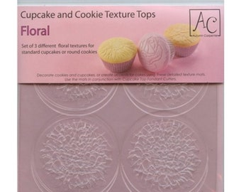 Cupcake and Cookie Texture Top Floral