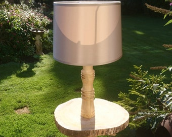 Table Lamp, Oak Lamp, Wood Turned Lamp, Wooden Side Lamp, Hand Turned, New  Forest, Lamp Base, Unique Lamp