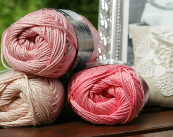3 Catania yarn balls in any colour / Schachenmayr Catania yarn in ALL colours available / Worldwide Shipping / Crochet and Knitting Yarn