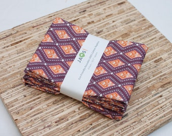 Large Cloth Napkins - Set of 4 - (N1831) - Purple Modern Reusable Fabric Napkins