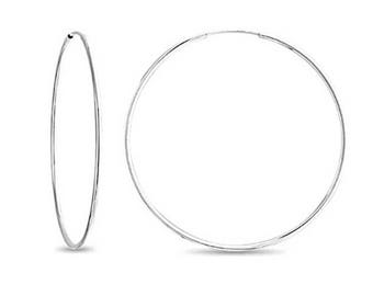 SALE 14k SOLID Endless Hoops Yellow/White Gold Thinest Endless Hoops 10mm. 12mm. 14mm. 16mm. 18mm.  Birthday Gift (.030mm)HE1