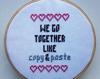 Finished Cross Stitch Love Quote