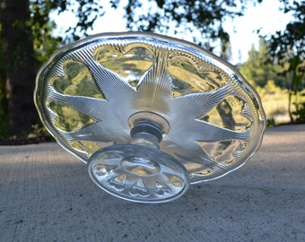 Clear Vintage Cake Stand with Hearts