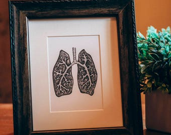 Lungs - Ink Print