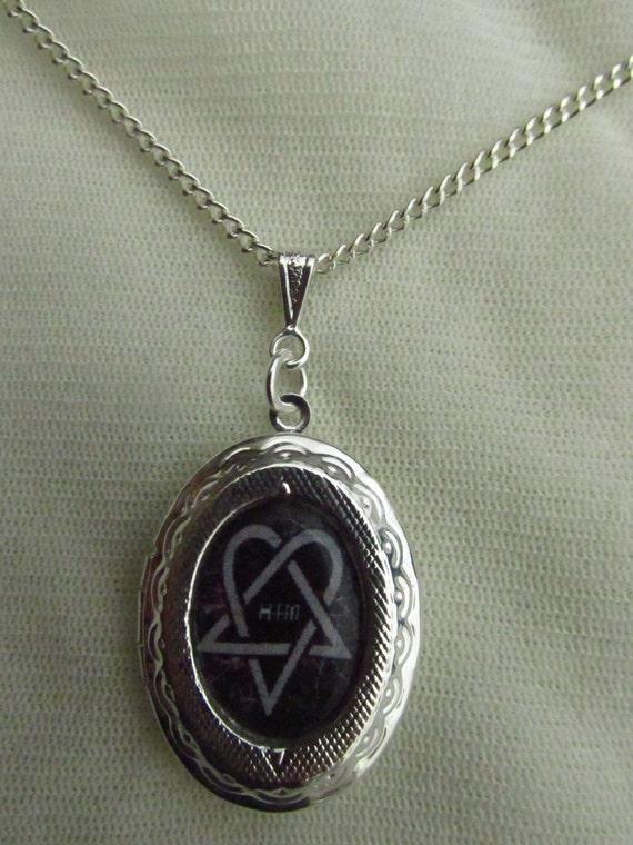 Him ville valo heartagram locket necklace aloadofball Choice Image