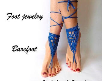 Beach foot accessories Barefoot sandals Barefoot footless sandals Bridal barefoot Beach footless Crochet barefoot Beach sandals footless