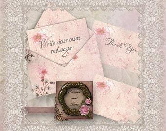 Digital Greeting Cards, Digital Paper, Scrapbooking, Digital Embellishments, Printable Downloads No. 1401