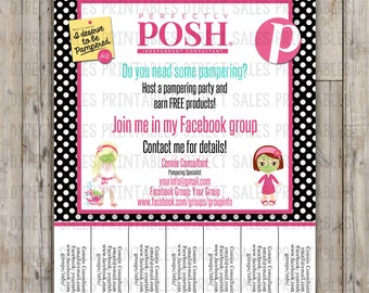 Perfectly Posh Inspired Tear Off Flyer Posh Flyer