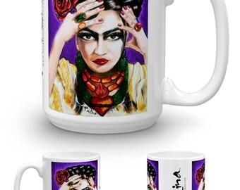 Art is Passion Frida Painting by Paulina Coffee Mug