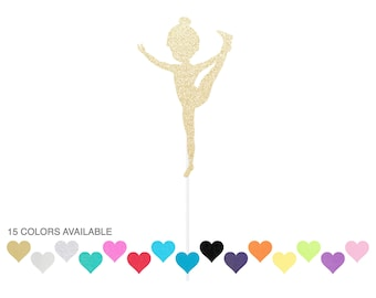 Gymnast Cake Topper - Any Color Glitter
