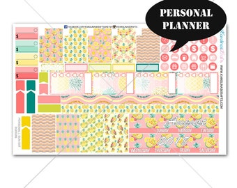 Pineapple MONTHLY Planner Kit  /Personal Planner Stickers /Personal Planner Kit / Monthly Sticker Kit #SQ00286-Personal