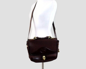 Vintage Chocolate Dooney and Bourke Leather Satchel