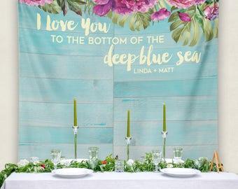 Custom Wedding Banner, Wedding Banner, Personalized Wedding Banner, Bridal Shower Decor, Bridal Shower Banner/ W-G24-TP MAR1 AA3