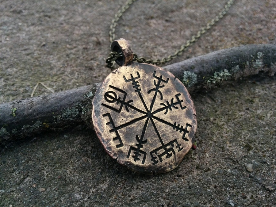 Viking jewelry compass vegvisir pendant necklace norse jewelry zoom aloadofball Images