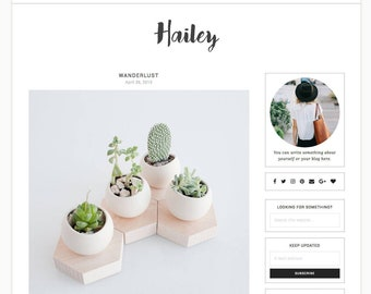 Hailey - Wordpress theme - Wordpress Template - Responsive WordPress Blog Theme - Shop Template - Woocommerce - Fashion - Photography