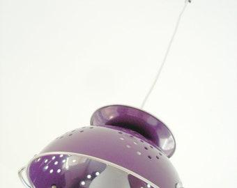 """Lampe passoire design et tendance """"PASSOU'ART"""" prune"""