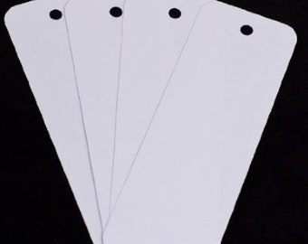 50 blank bookmarks, 2 inch by 6 inch with pre-punched hole, high quality cardstock
