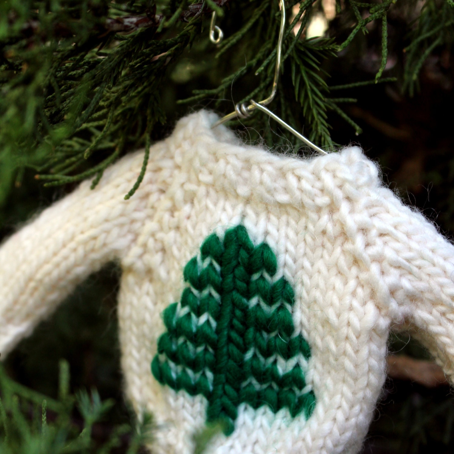 Christmas knit pattern tree mini sweater ornament knitting zoom bankloansurffo Image collections