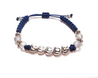 "Macrame bracelet ""AMOUR"", gift idea, gift, cheap gift, Valentine's day gift, for wife, Valentine's day jewelry"