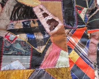 Antique Victorian Velvet Crazy Quilt Block