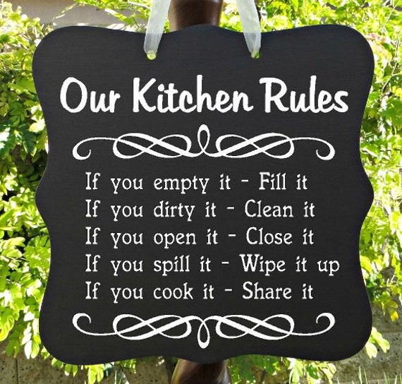 Kitchen Rules Sign: Kitchen Sign Our Kitchen Rules House Rules Home Decor Wall