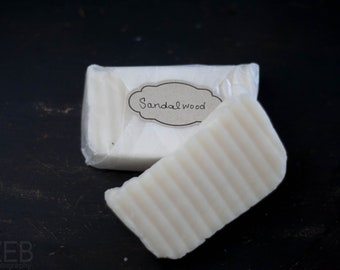 All Natural Sandalwood Hot Process Coconut Oil Soap