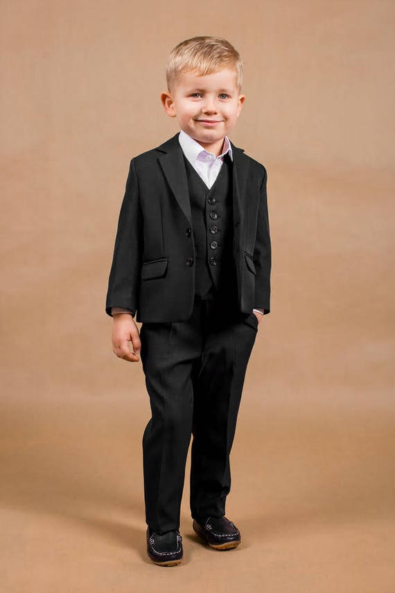 Wedding suit Ring bearer outfit Wedding boy suit Navy wedding