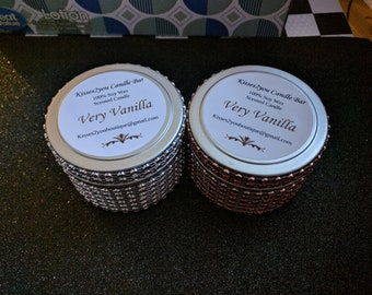 2oz Sweet Vanilla Scented Soy Wax Glam Candles (4 Candles)